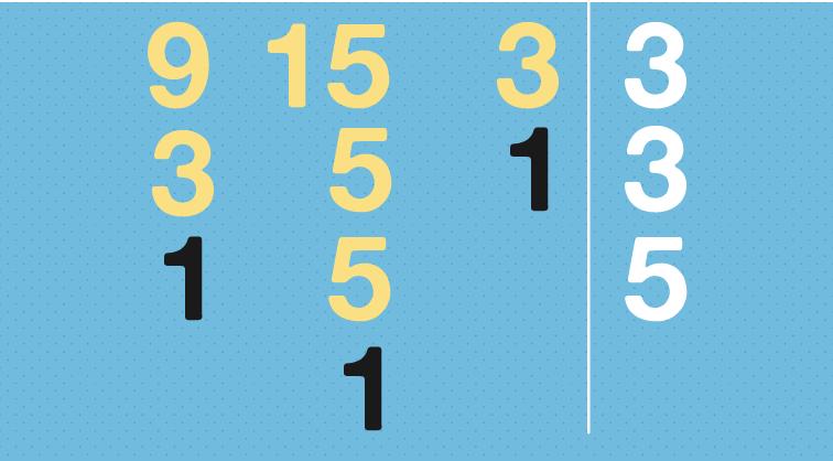 Todos os números no conjunto devem ser decompostos até terminarem em um.