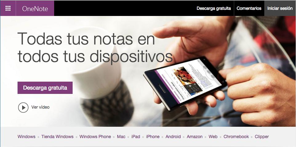 Sitio Web de Microsoft OneNote