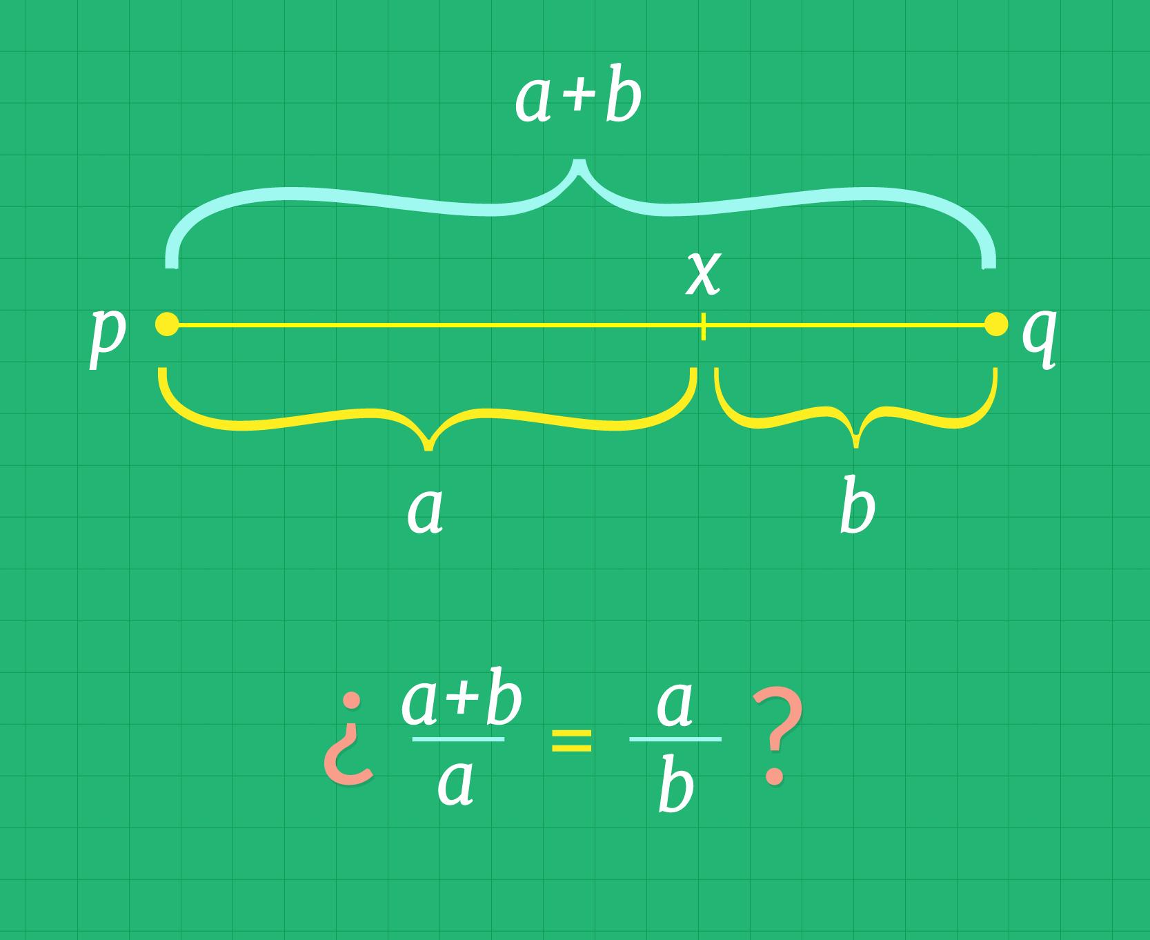 División del segmento de tal forma que las razones sean iguales