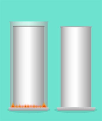 Barras de metal con diferente volumen, pero igual masa.