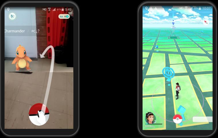 Imagen ejemplo de Pokemon Go.