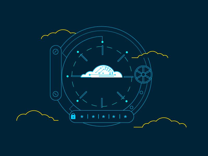 Imagen de contexto de seguridad en la nube.