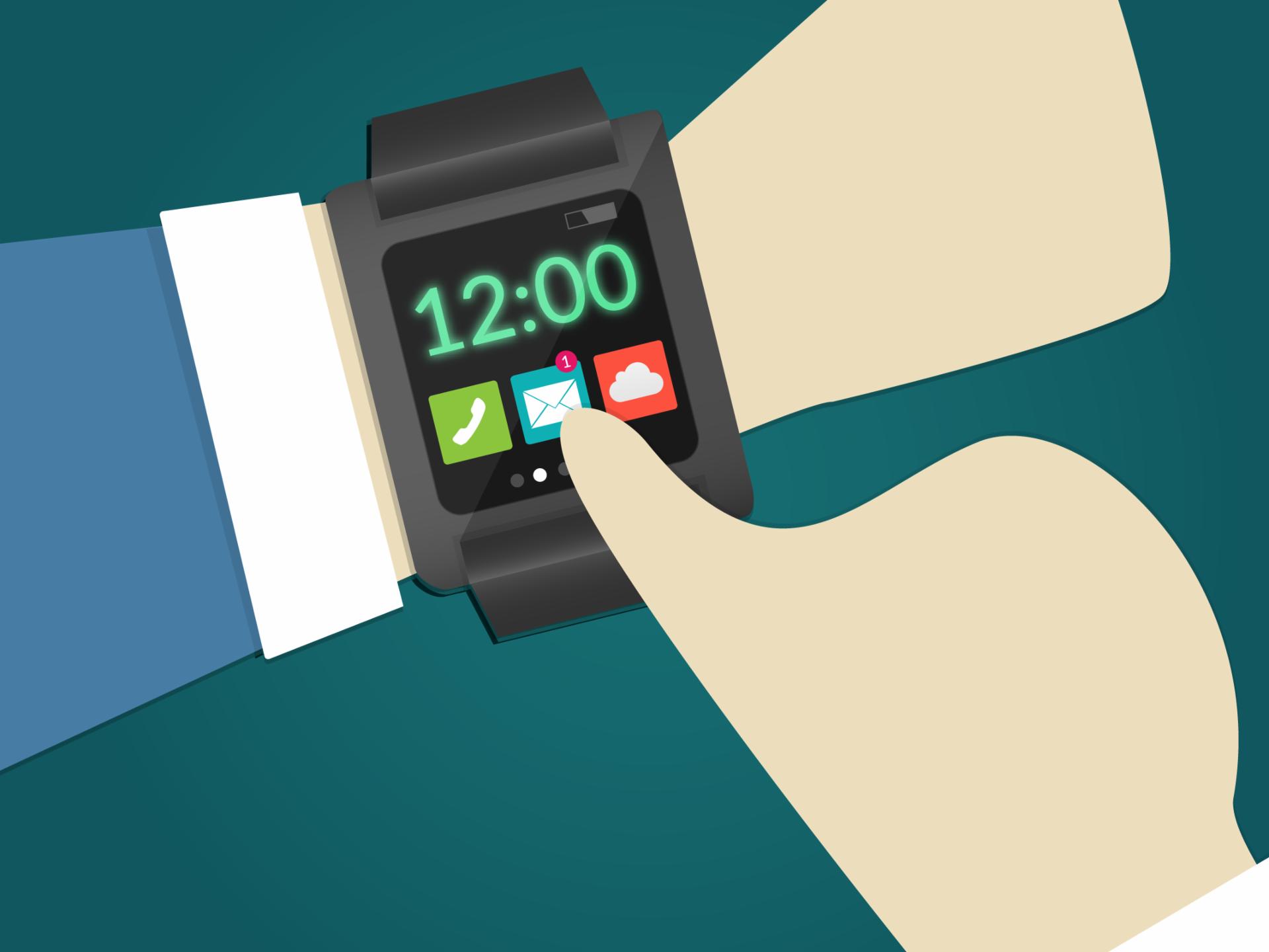 Imagem de um relógio inteligente.