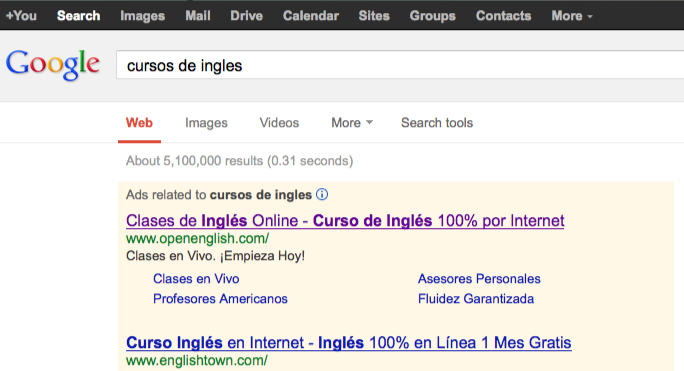 Buscar sitios en internet con buscador.
