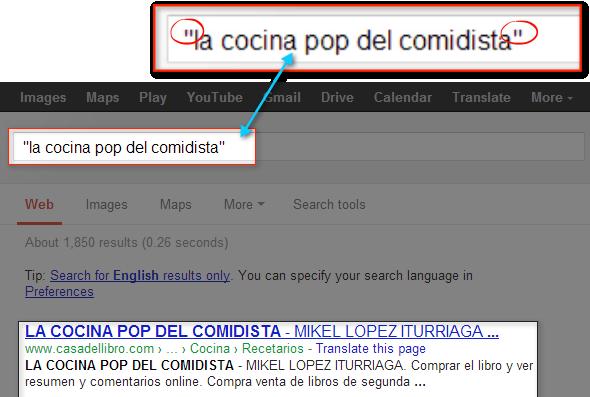 Gramática para realizar búsquedas.