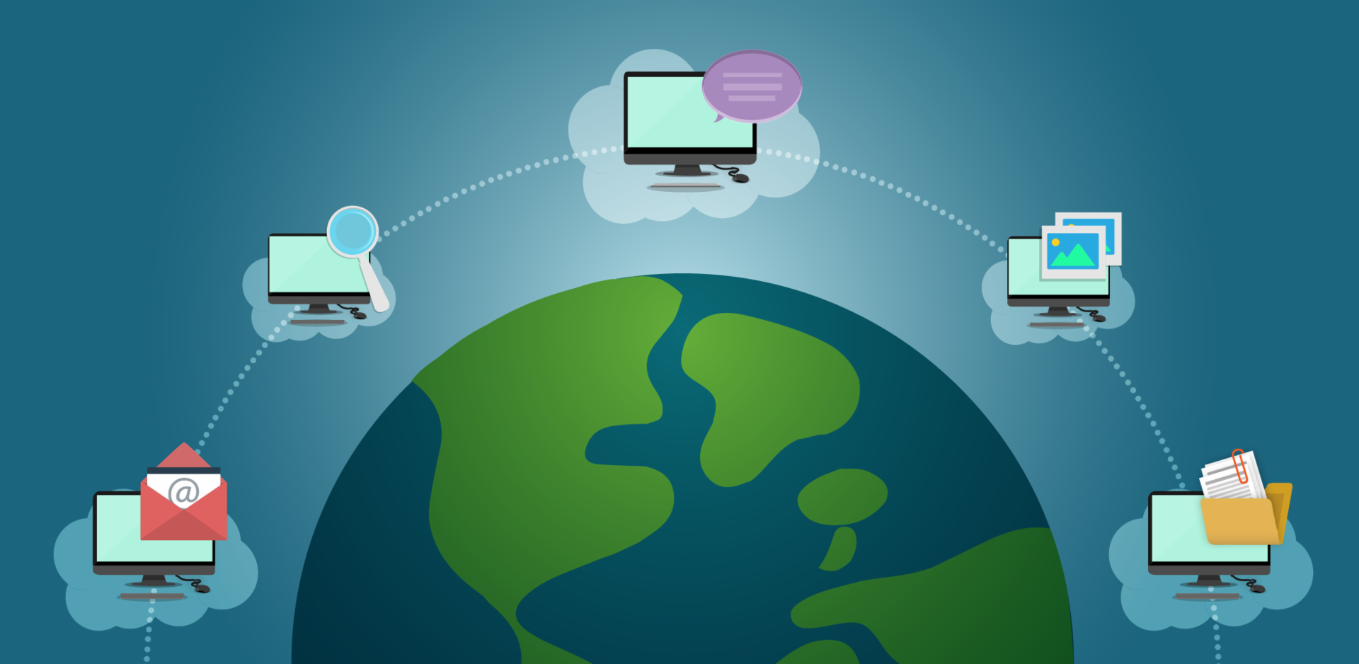 Conexión entre computadores usando internet