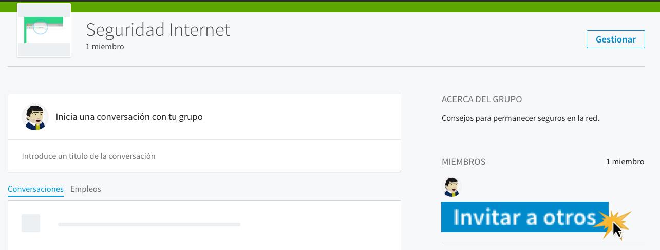 En la parte derecha de la pantalla, haz clic en Invitar a otros.