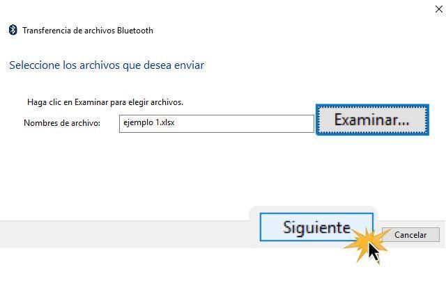 Busca el archivo en tu computador y luego haz clic en Siguiente.