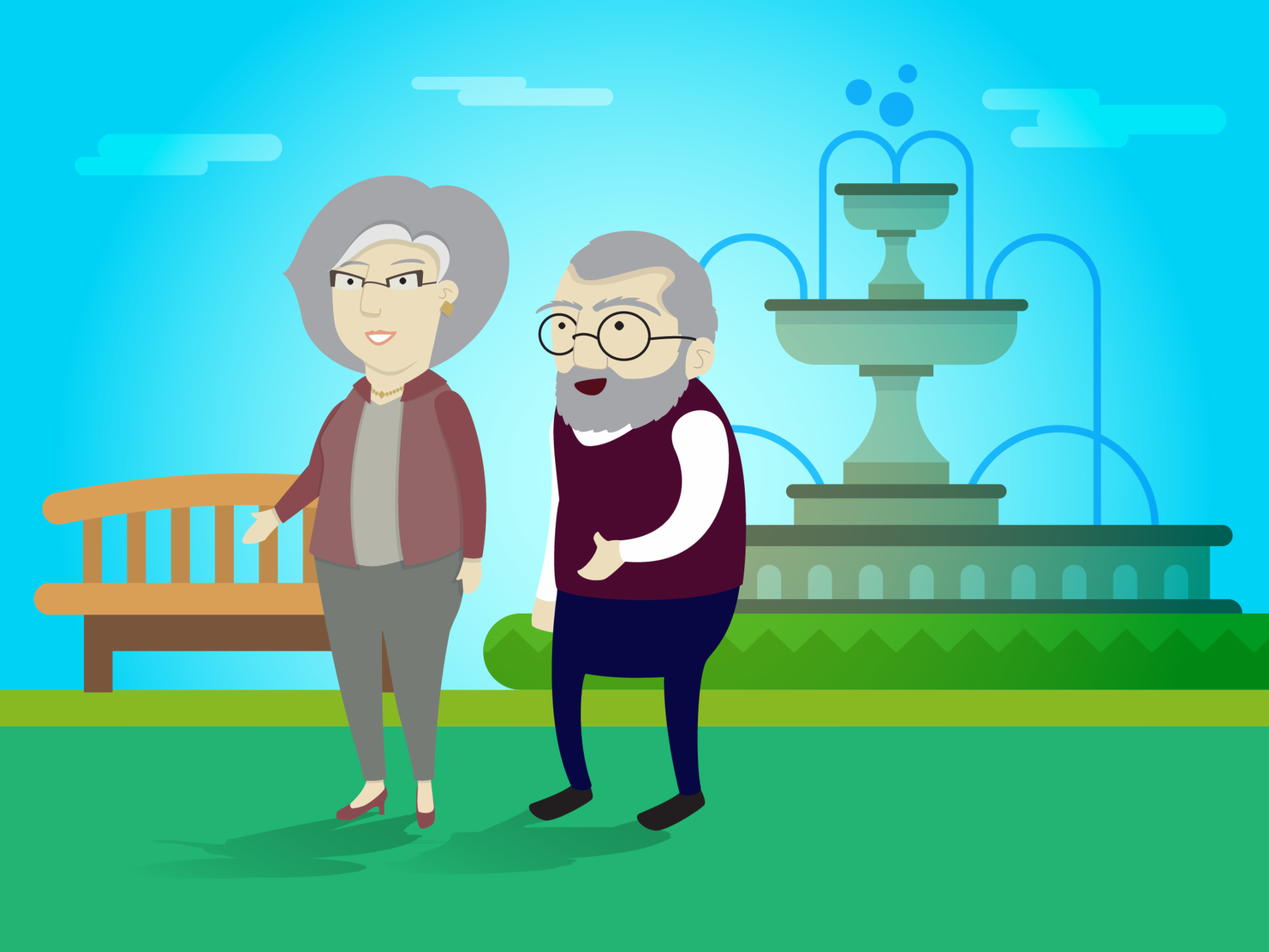 Cuide da sua velhice, isso é muito importante.