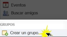 Haz clic en el botón Crear un grupo.