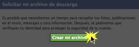 Haz clic en el botón Crear mi archivo para terminar.