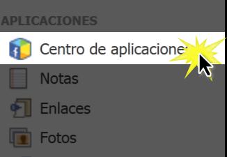 Haz clic en el botón Centro de aplicaciones.