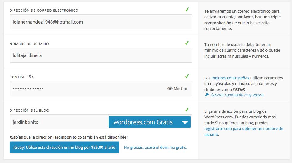 Ejemplo de Formulario de Wordpress 2014