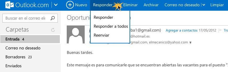 Leer un mensaje de correo electrónico