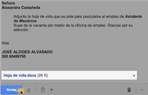 Enviar un mensaje de correo electrónico con un archivo adjunto