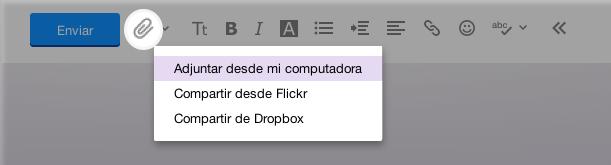 Adjuntar un archivo en zip a mensaje de correo electrónico