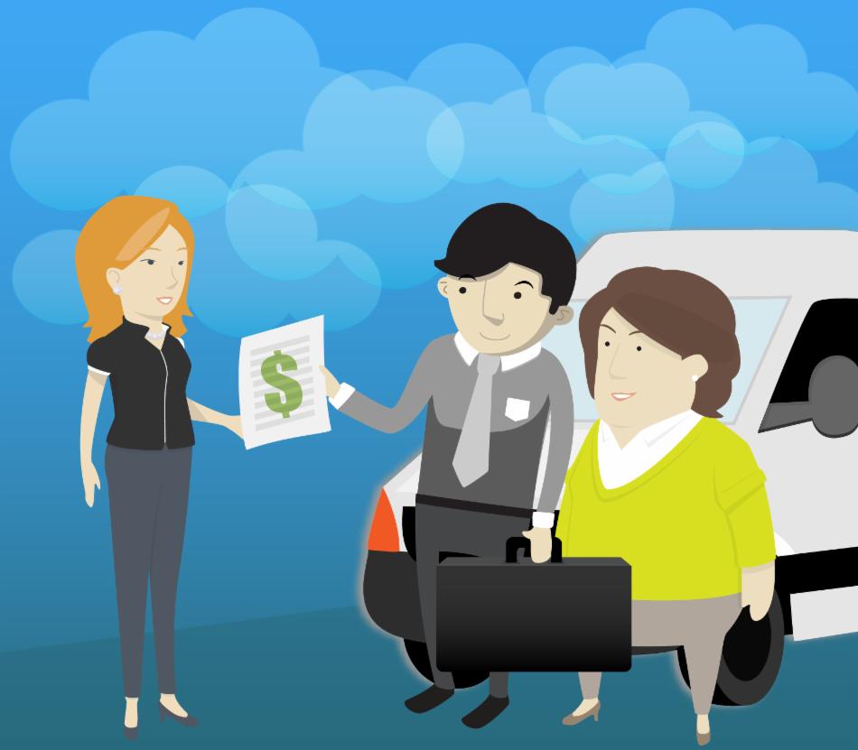 En el Leasing financiero participan tres partes: tú, el vendedor y el banco.