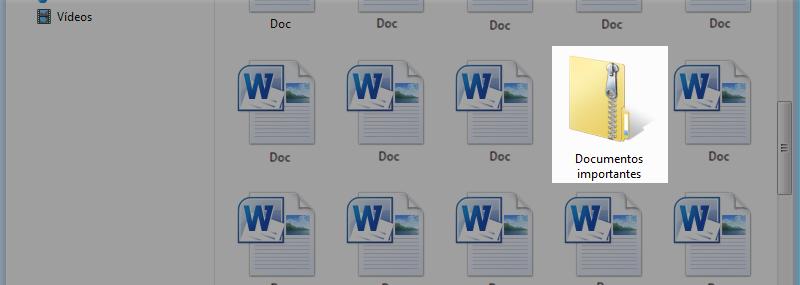 Arquivo com documentos zipados