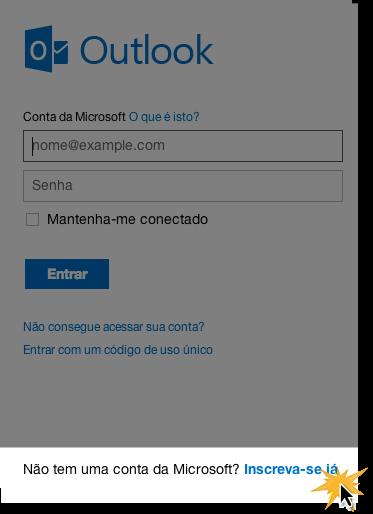 Formulário para se registrar