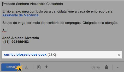 Envie um email com um anexo
