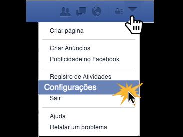Clique no botão Configurações