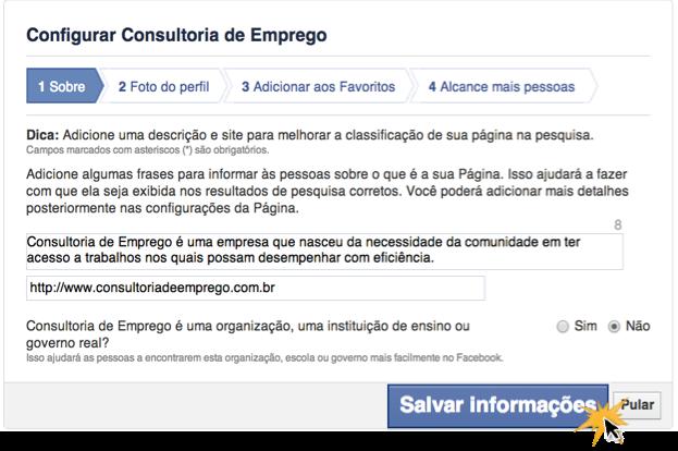 Criar Uma Conta No Facebook O Que é Uma Página De Negócios Ii