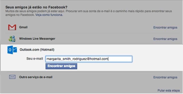 Escolher um servidor de email