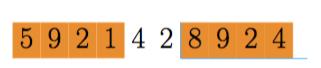Pegue a mesma quantidade de números que tiver o divisor.