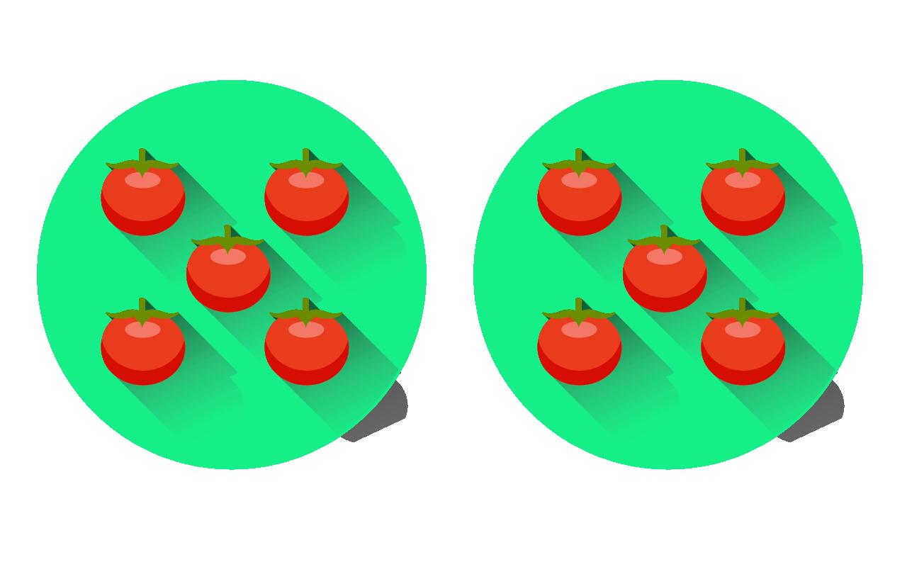 Con diez unidades, se pueden hacer dos grupos de cinco.