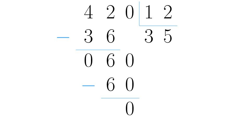 Se dividen los números sin tener en cuenta los signos.