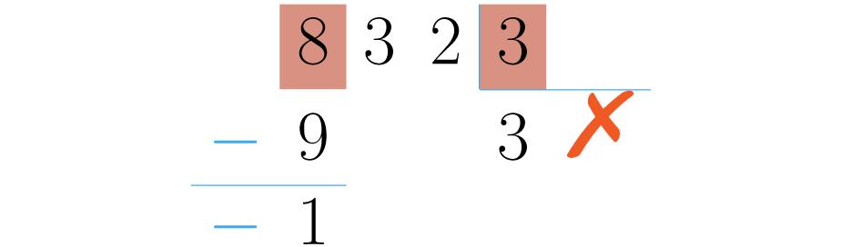 Si se pone un número mayor se obtiene una resta con resultado negativo.