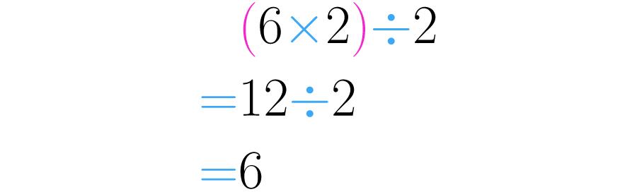 Si primero multiplicamos, y luego dividimos en dos, obtenemos el mismo número.