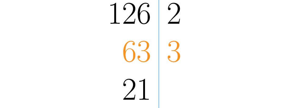 Se divide en el menor número primo posible, en este caso el 3.