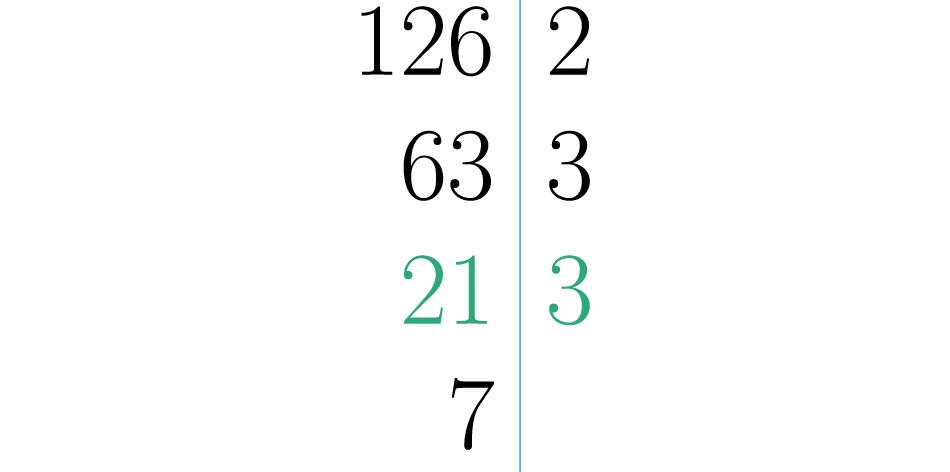 Se divide por el menor número primo posible, nuevamente resulto ser el 3.