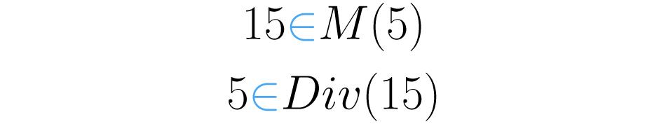 Los conceptos de divisor y múltiplo son análogos.