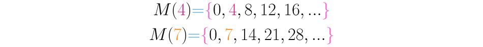 Múltiplos de 4 y 7.