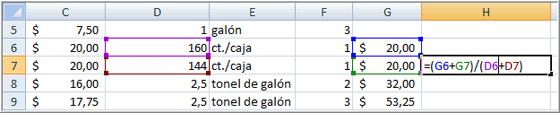 Estructura de la fórmula