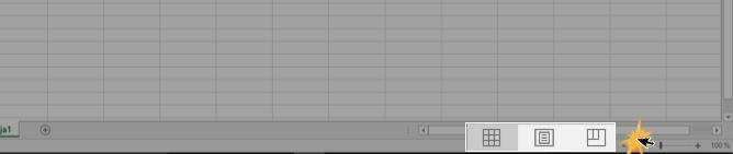 Imagen ejemplo de las opciones de vista de Excel 2016.