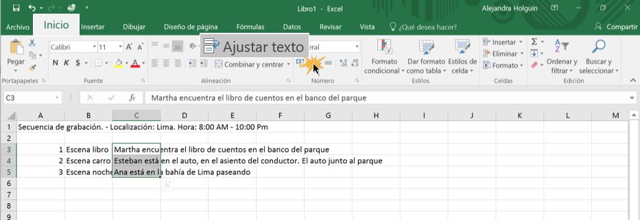 Imagen ejemplo del comando Ajustar texto.