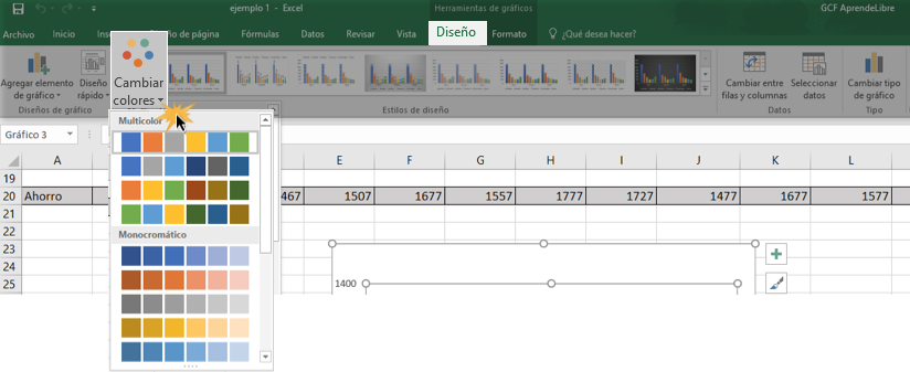 Imagen ejemplo del comando Cambiar colores.