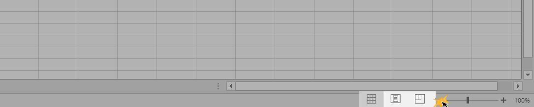 Imagem exemplo das opções de visualização do Excel 2016.