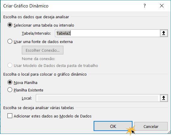 Exemplo de imagem da caixa de diálogo Criar gráfico dinâmico.