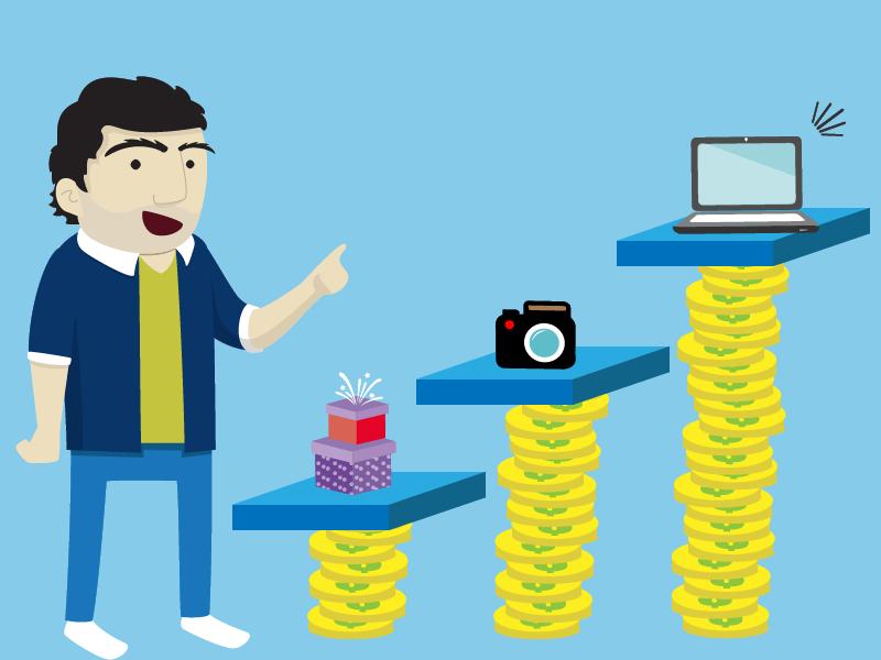 Os créditos podem ser dados através de cartões bancários.
