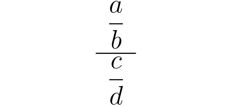 División de dos fraccionarios.