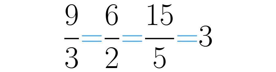 El resultado de estas divisiones es 3.