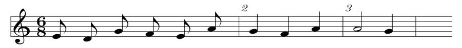 Compás de seis octavos
