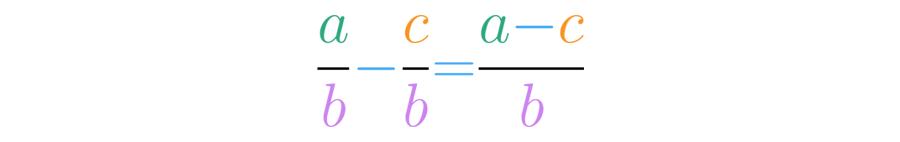Resta de fracciones homogéneas.