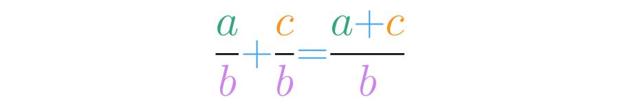 Suma de fracciones homogéneas.