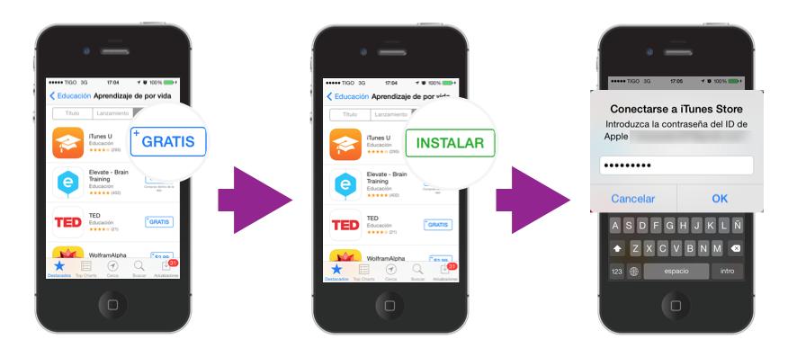 Encontrar la aplicación y descargarla.
