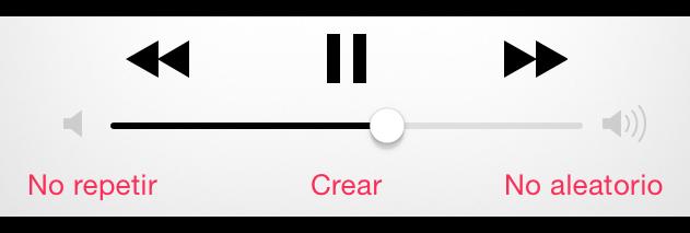 Botones de reproducción de música.